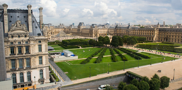 View from Ferris wheel near the Louvre