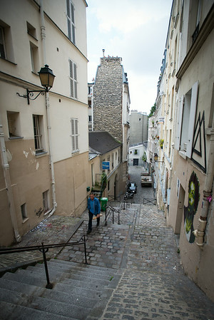 Steps in Montmatre.