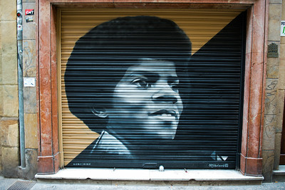 Young MJ graffiti in San Sebastian