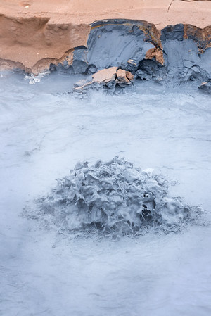 Boiling Blue Mud