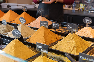 Spices at a stand in Markthal