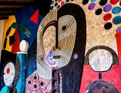 Detail from the wall at Spa Pantavi, Ecuador