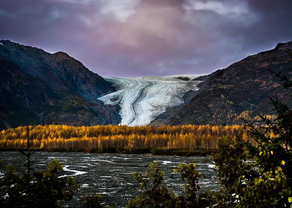 Exit Glacier at dawn