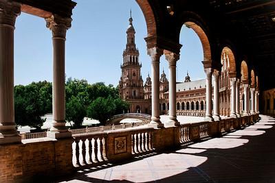 Seville, Plaza de España, August 2009