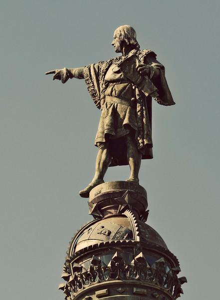 Barcelona,  Columbus Monument (Monumento á Cristóbal Colón), September 2010