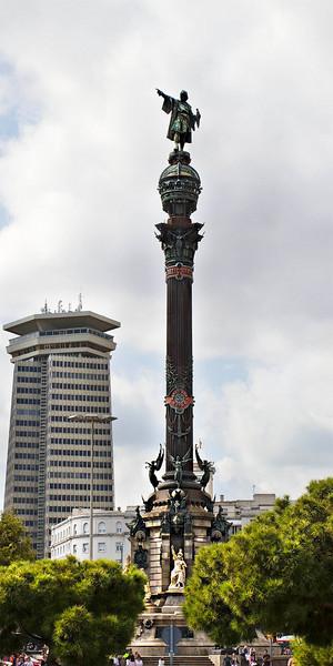 Barcelona, Columbus Monument (Monumento á Cristóbal Colón). September 2010