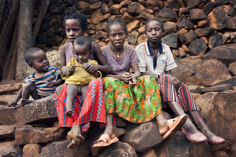Konso Tribe Children