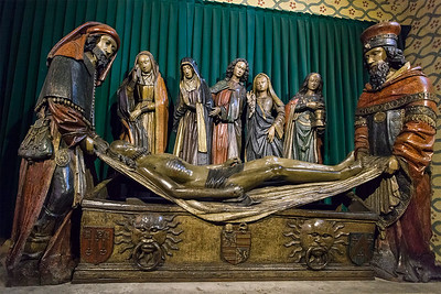 Moissac Abbey, St. Pierre church, Entombment of Christ