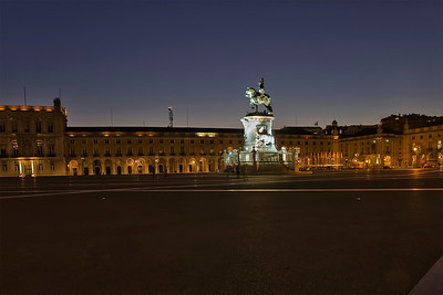 Lisbon, Praça do Comércio (Terreiro do Paço), Commerce Square with statue of King José I, September 2011