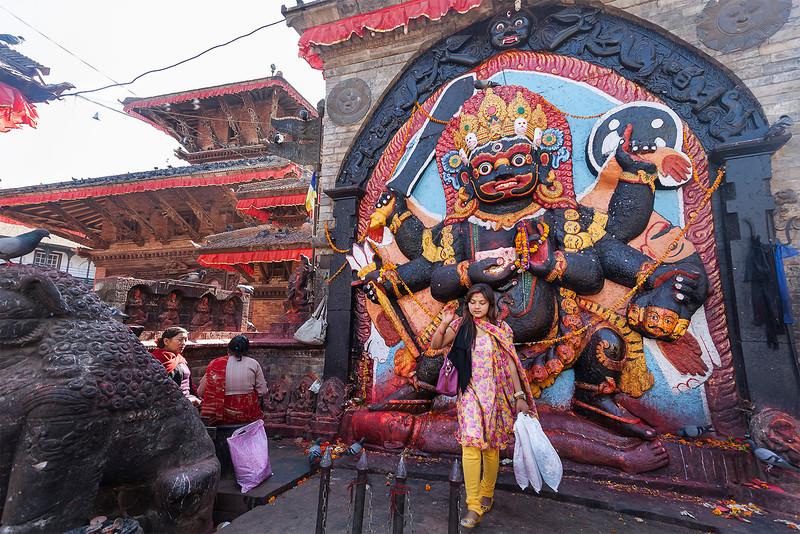 Kathmandu, Durbar Square, Kala Bhairava, November 2012