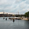 Stockholm,  Image of Strandvägen Waterfront  seen from Skeppsholmsbron, September 2010