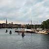 Stockholm,  Image of Strandvägen Waterfront  seen from Skeppsholmsbron, September 2010