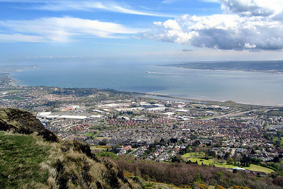 Belfast Lough, The view from the top of the Cave Hill, April 2008