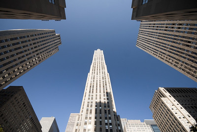 The various skyscrapers around the Rockefeller Centre compete for supremacy but the GE building - at 70 storeys - just wins out.