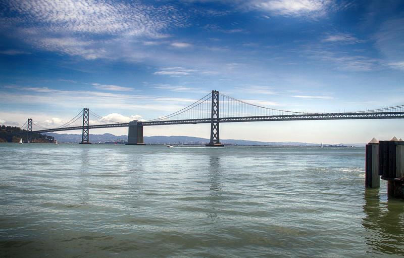 The Oakland Bay Bridge, July 2015.