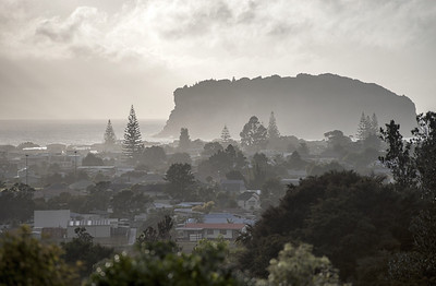 A murky morning just before 7am and just before the sun broke through the clouds at Whangamata.