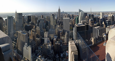 Daylight panorama from 'The Top of the Rock'