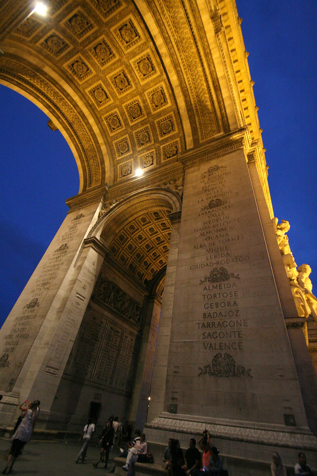 The Arc de Triomphe, August 2013