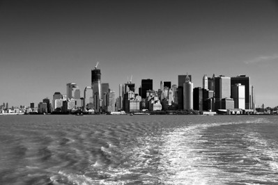 Manhattan from the famous Staten Island Ferry.