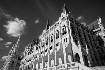 The magnificent neo-gothic Hungarian Parliament building on the banks of the Danube in Budapest