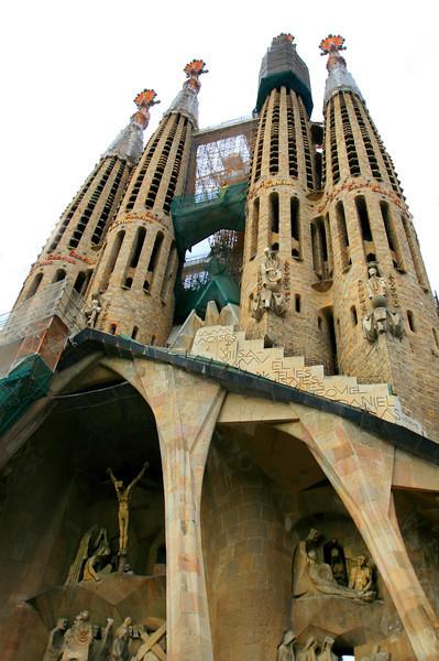La Sagrada Familia, Barcelona, Spain. August 2013.