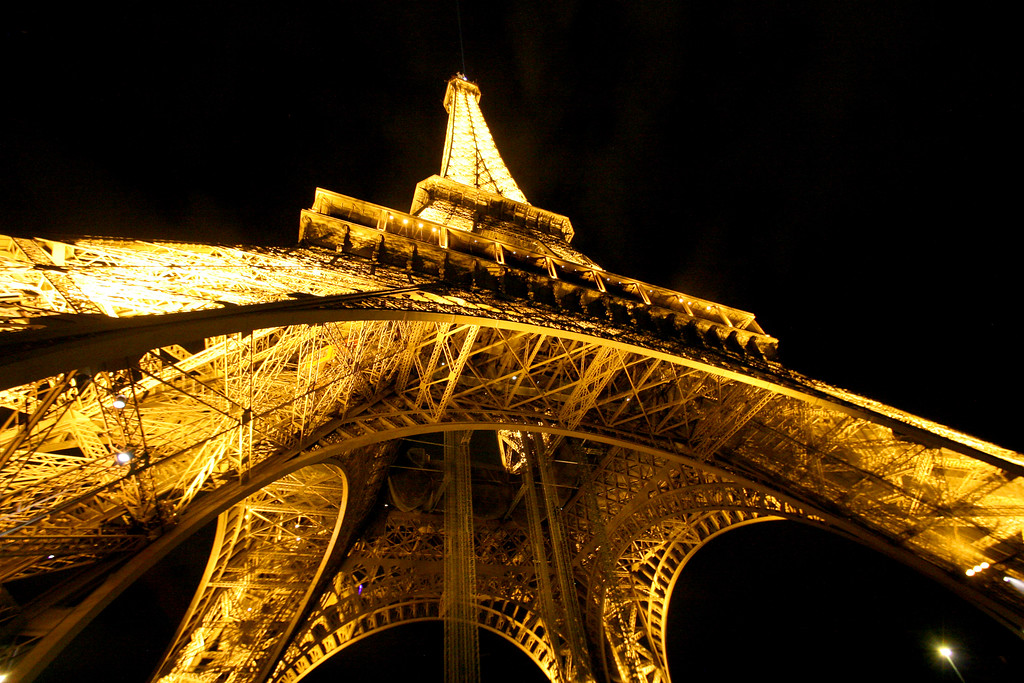 The Eiffel Tower at night, August 2013