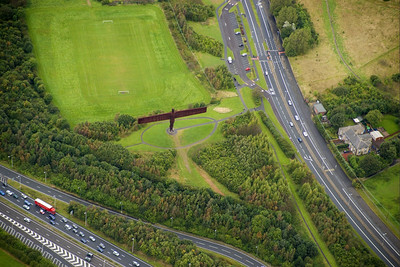 A famous local landmark - The Angel of the North.