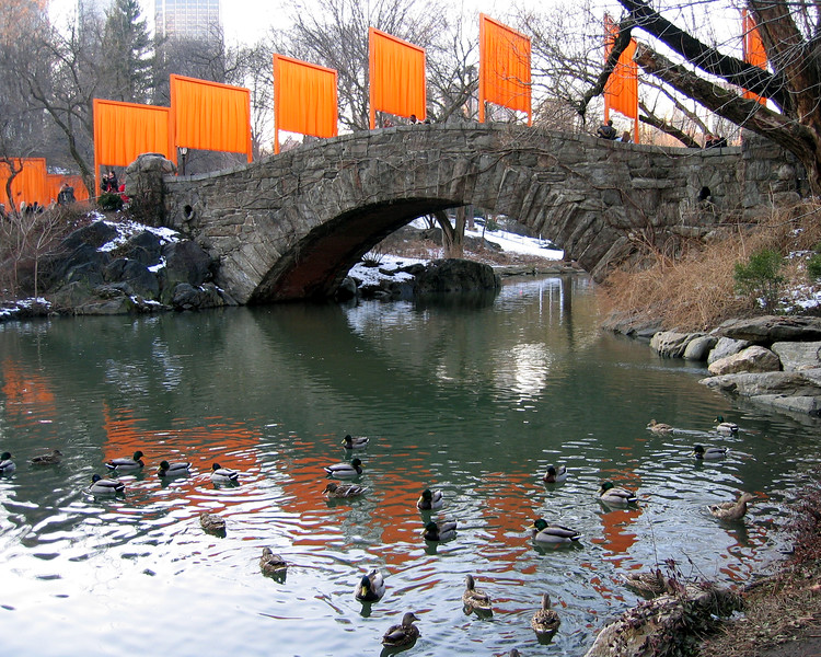 Christo's 2005 Gates exhibit in Central Park, NYC