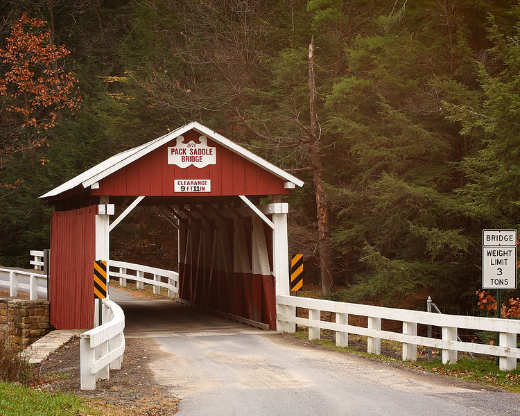 Pack Saddle Covered Bridge, outside of Fairhope Pennsylvania (Somerset County)