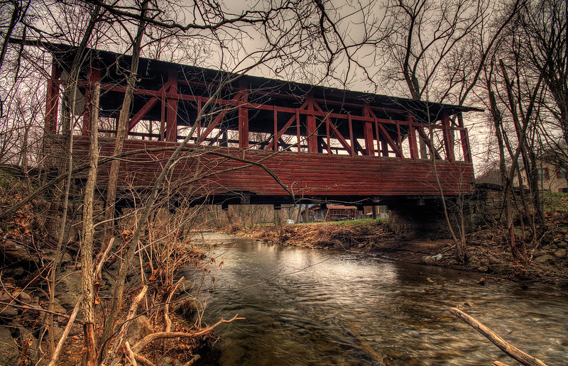The Palo Alto Covered Bridge near Hyndman, Pennsylvania