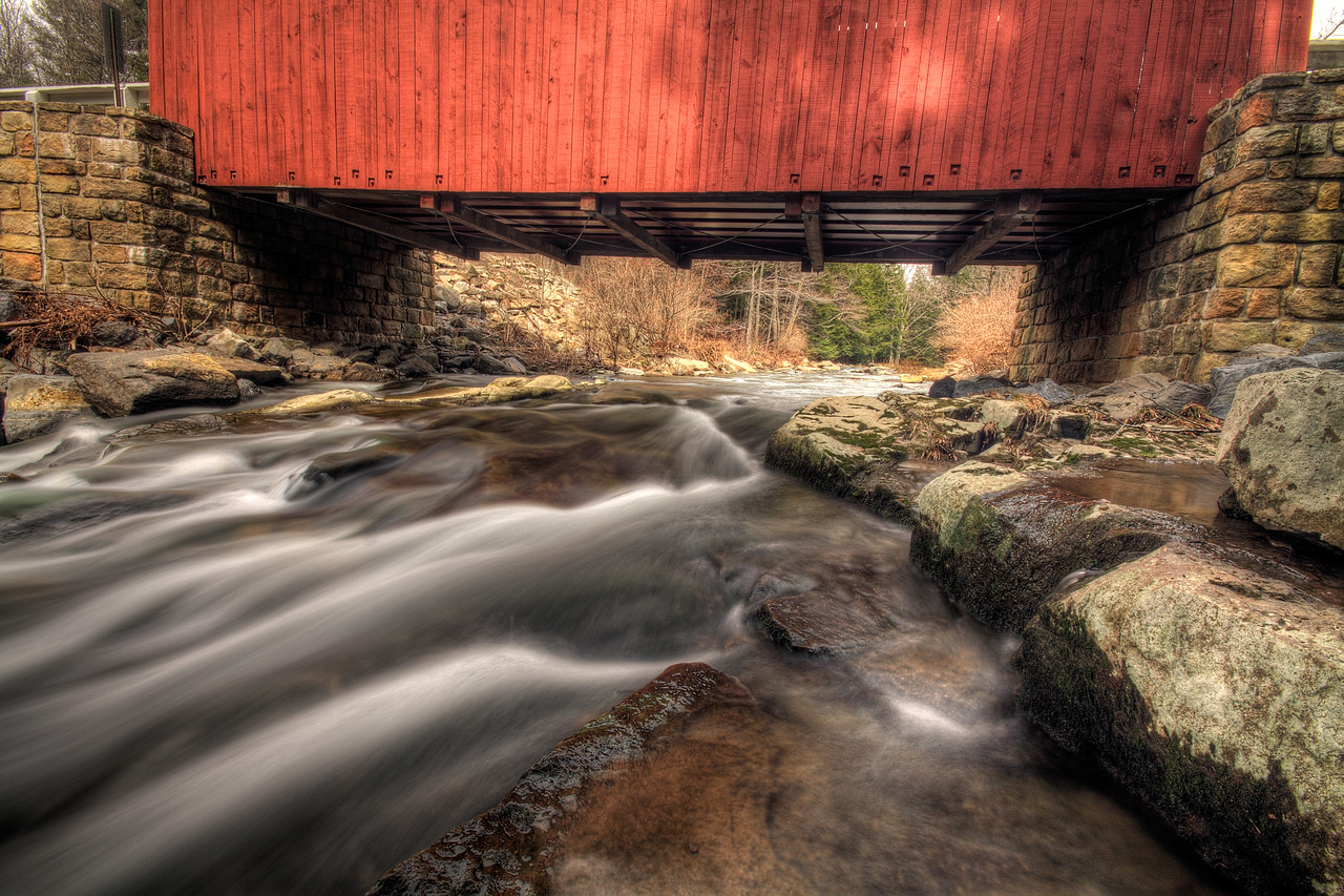 Pack Saddle Covered Bridge, near Fairhope Pennsylvania
