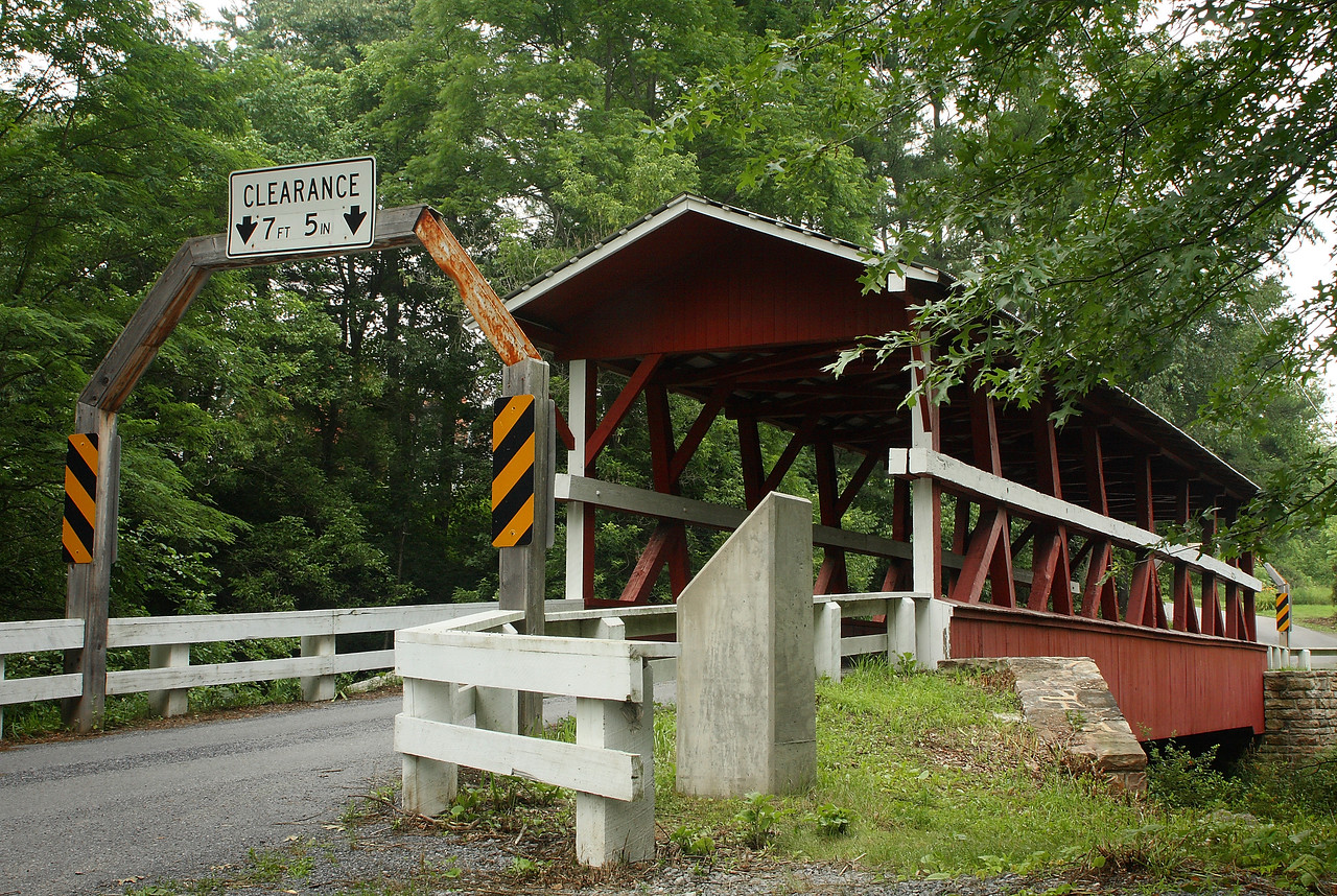 Colvin covered bridge outside of Schellsburg, Pennsylvania