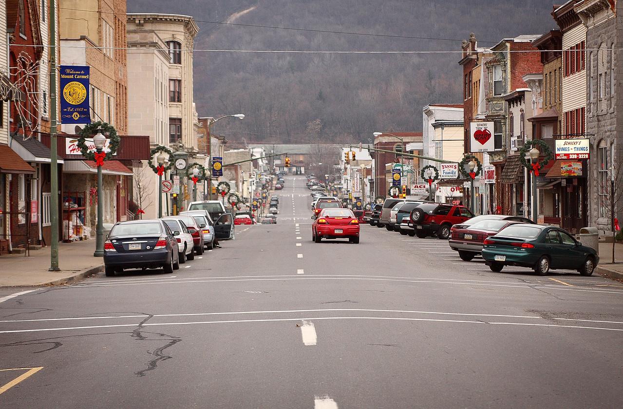 Downtown Mt Carmel - Oak Street