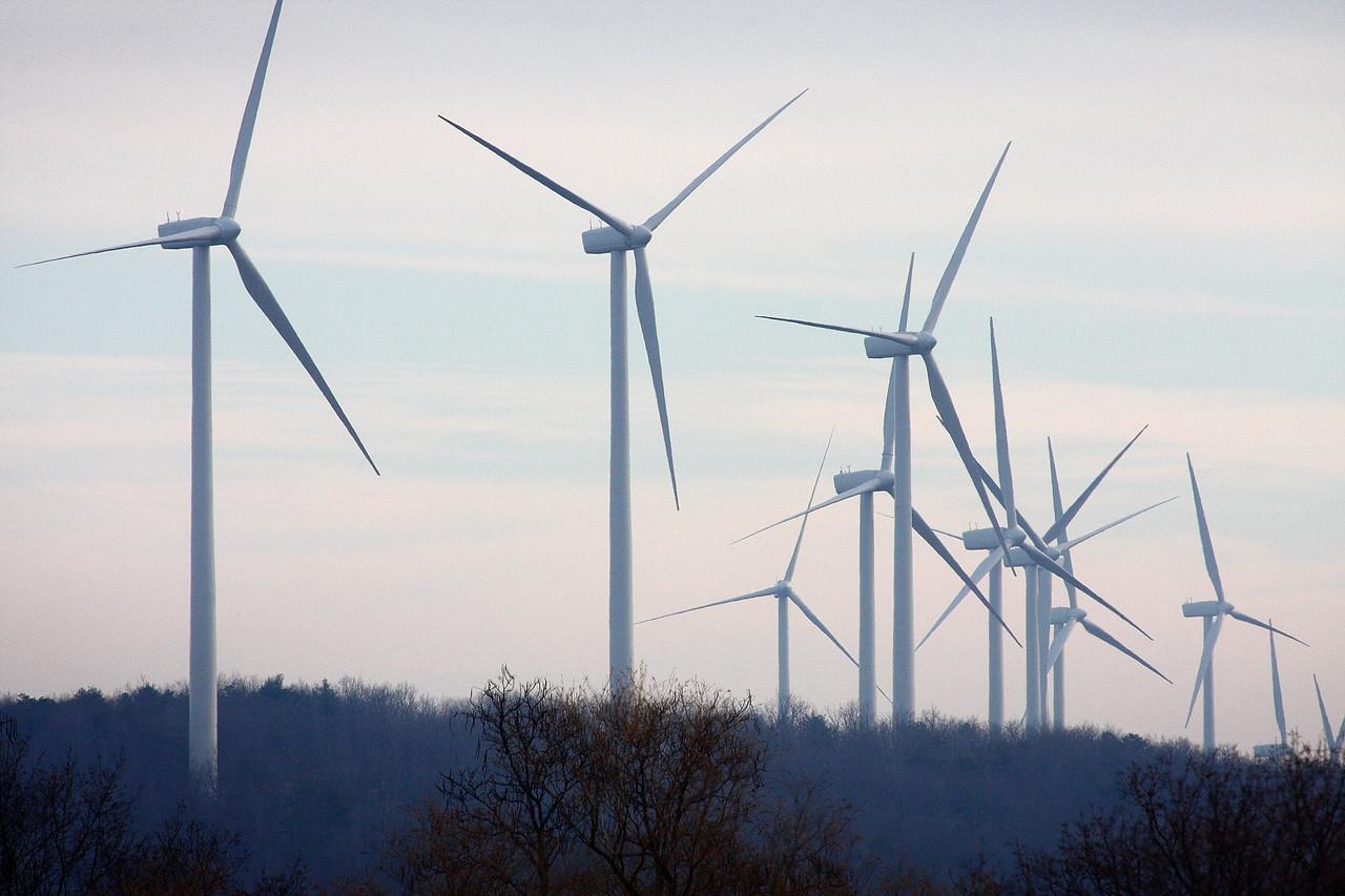 The new wind farm outside of Centralia