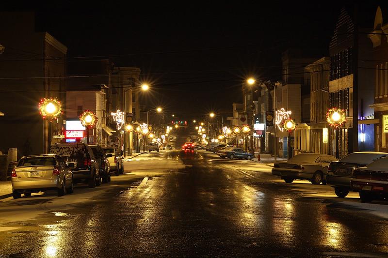 Oak street in Mt Carmel, Pennsylvania