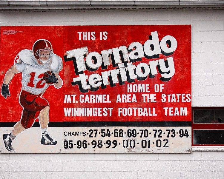 Red Tornado territory - Mt carmel is the home of Pennsylvania's winningest football team.