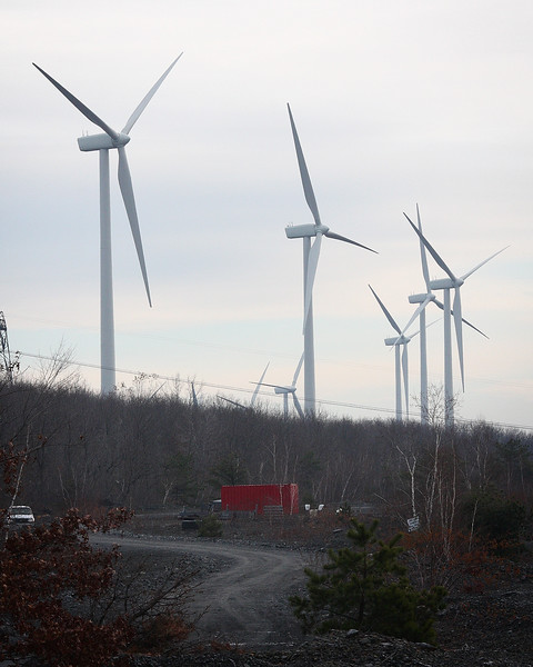 The new wind farm outside of Centralia