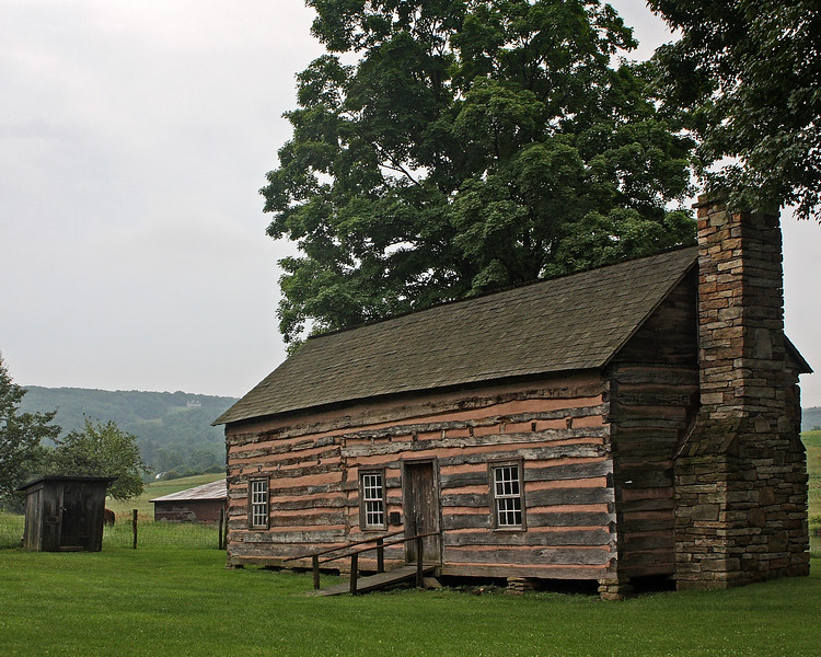 The Drane House in Accident, Maryland.  Built in 1797, it's the oldest structure in Garrett County, Maryland.