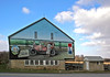 Large painted barn along the historic Lincoln Highway