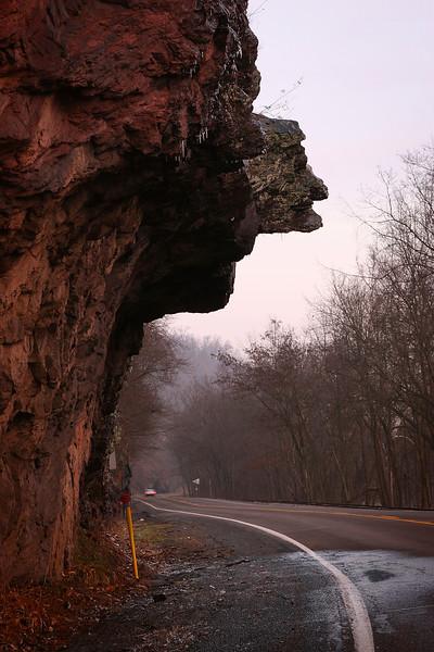 """Profile"" rock formation near Catawissa, Pennsylvania"