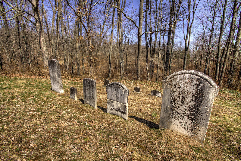 Grave markers at Little Buffalo State Park