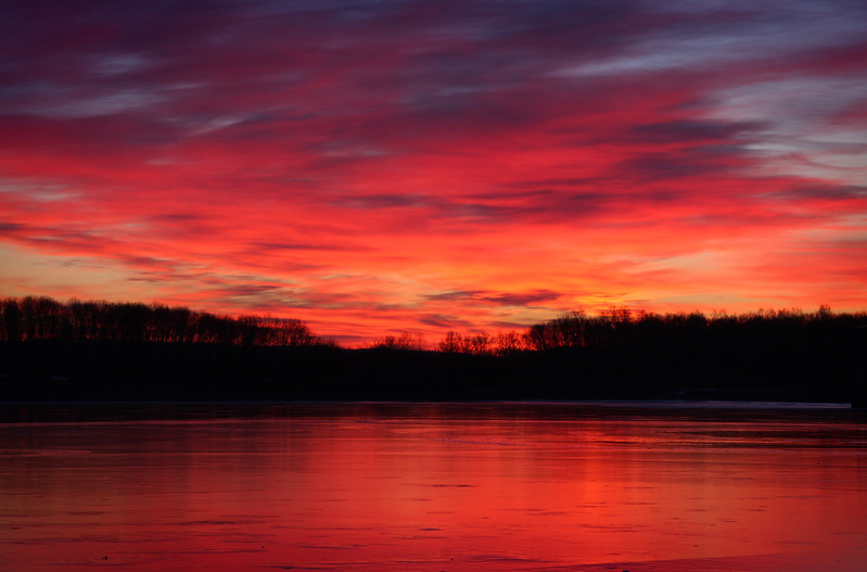 Sunrise at Lake Chillisquaque at the Montour Environmental Preserve outside of Bloomsburg / Danville Pennsylvania