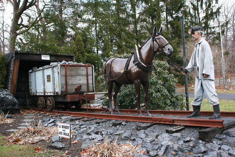 A Miner and his Mule - Statue tribute in Buck Run (outside of Minersville) Pennsylvania