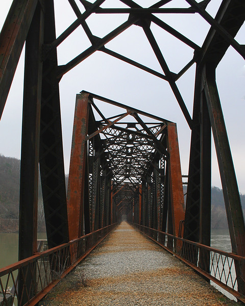 Rail bridge converted to a hiking trail outside of Catawissa, Pa