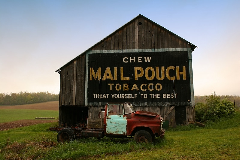 Mail Pouch barn near the intersection of Route 219 & Route 50 in West Virginia