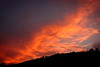 Fiery sunset at Cabins, West Virginia (just outside of Petersburg, West Virginia)