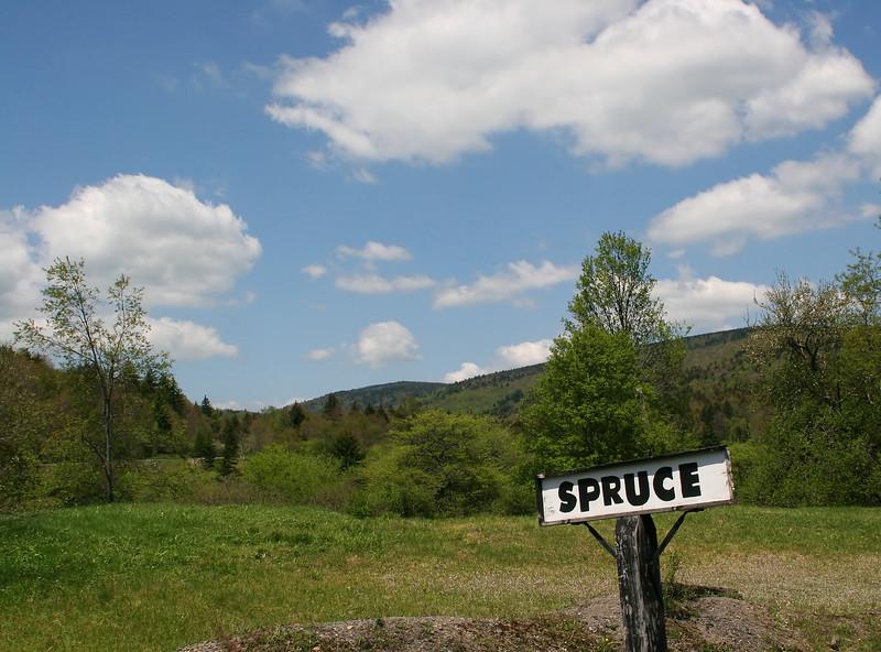 Former logging town, Spruce, WV