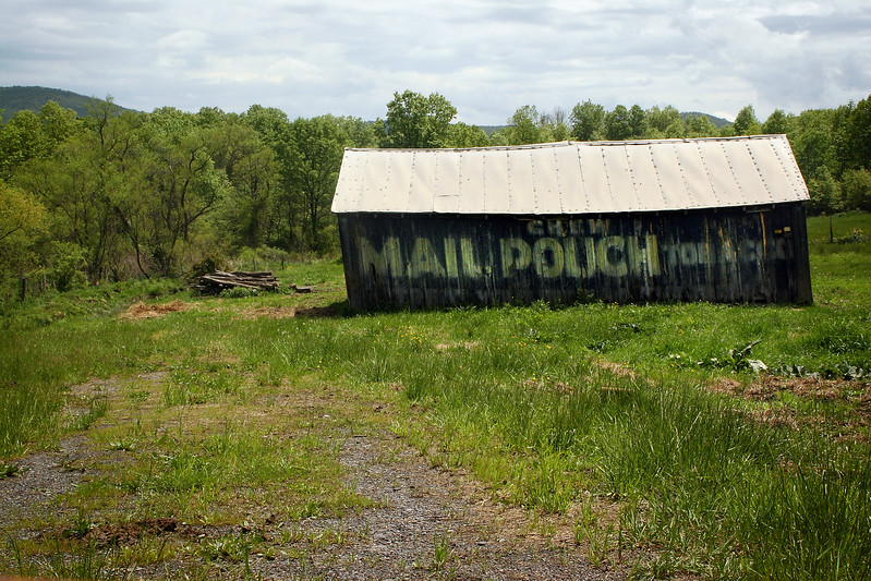 Mail Pouch Tobacco barn outside of Keyser, West Virginia