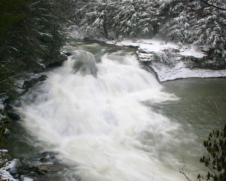 Overhead view of Swallow Falls - March 2008
