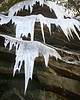 Giant icicles hanging near Swallow Falls